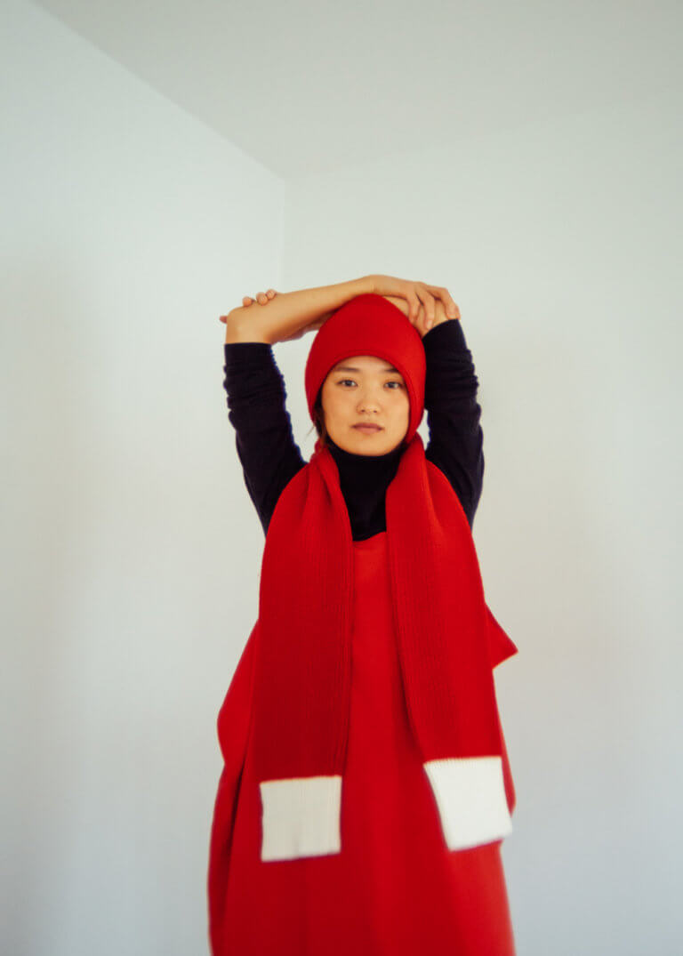 Red Sleeve Scarf - curated by.