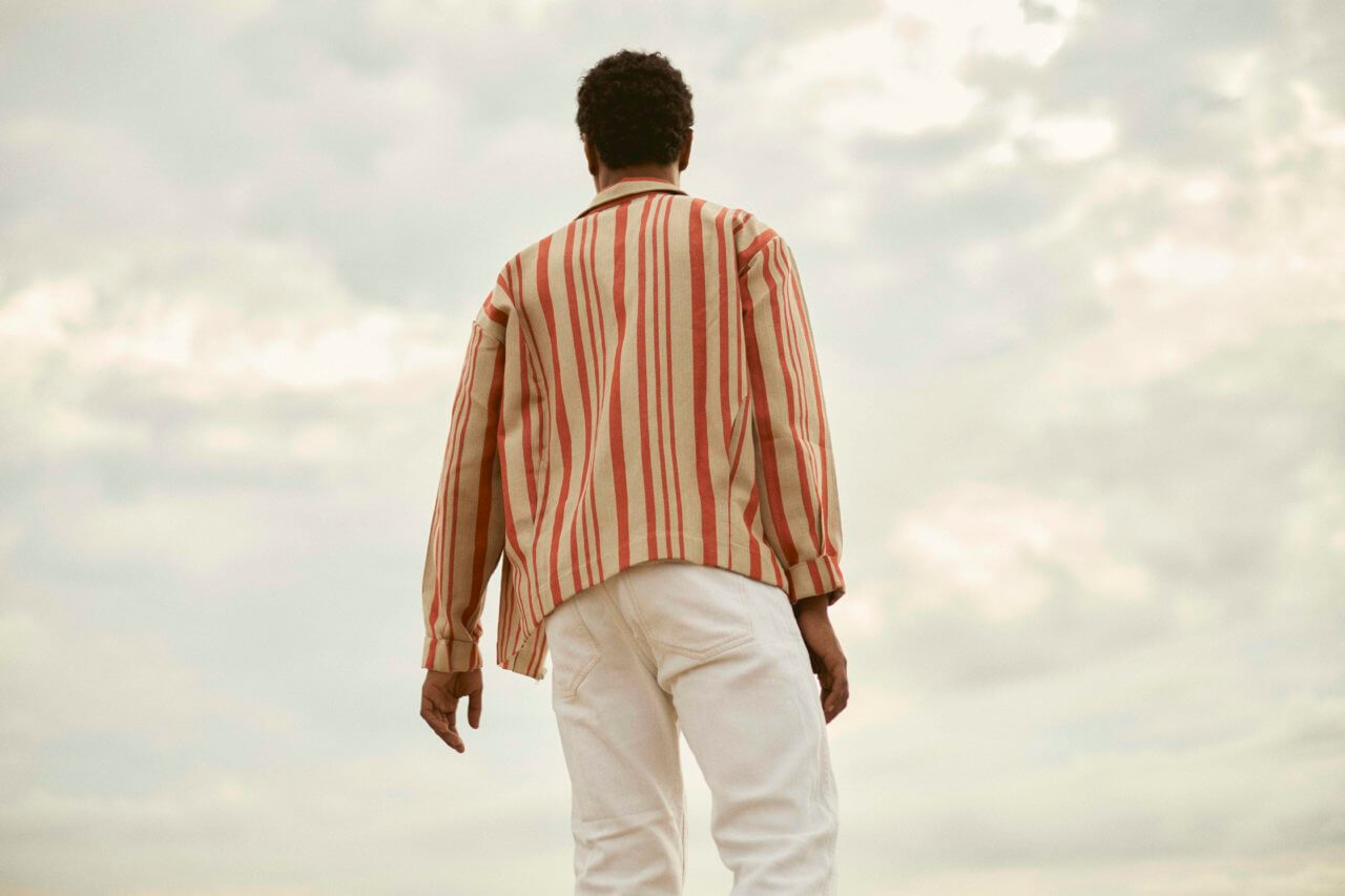 Striped Overshirt - curated by.